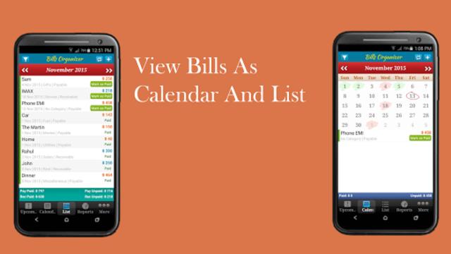 Bills Organizer with Sync  - Remind on Time screenshot 4
