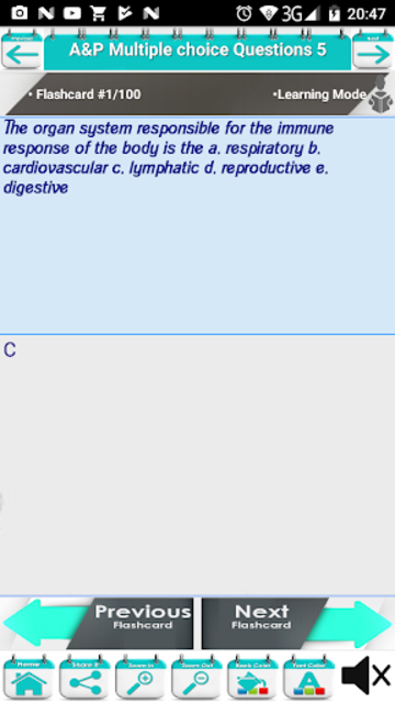 Anatomy & Physiology Multiple Choice Questions screenshot 5