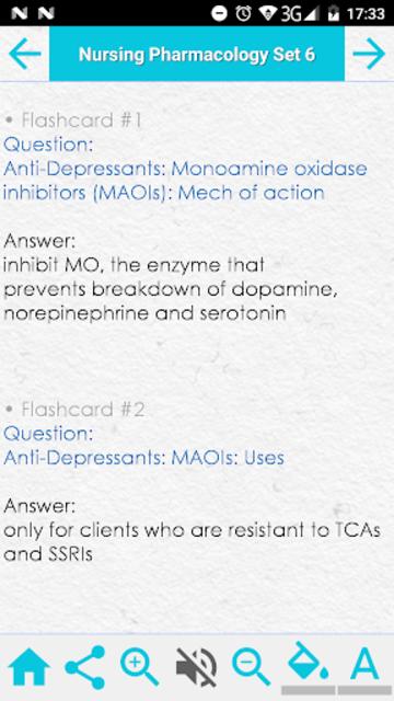 Nursing Pharmacology Test Review & Exam Flashcards screenshot 5