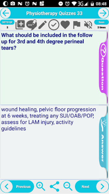 Physiotherapy Practice Test Flashcards & Quizzes screenshot 3