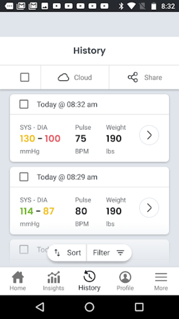 SmartBP - Blood Pressure Diary, Log, Tracker screenshot 3