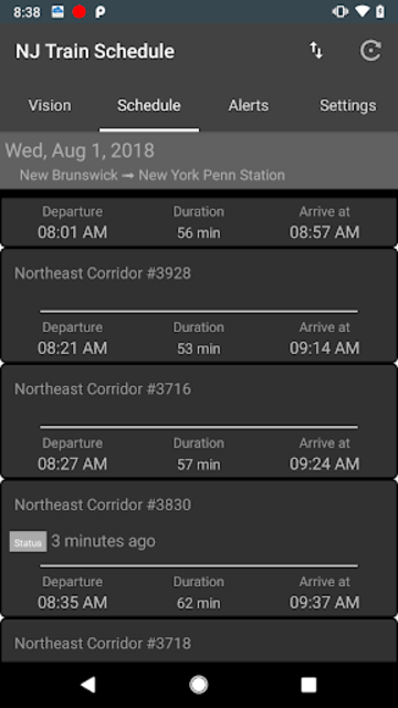 NJTSchedule(NJ Transit,  Schedules) screenshot 2