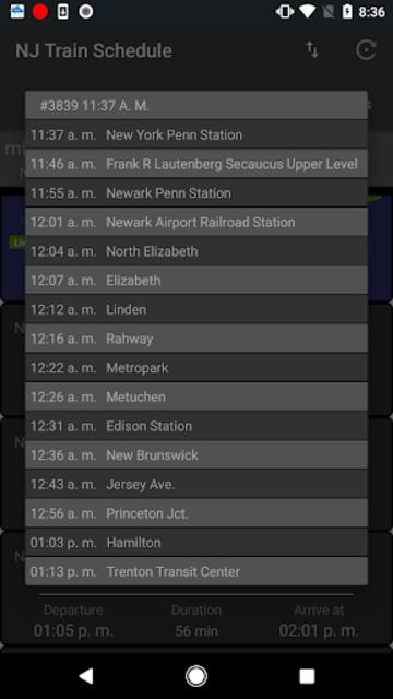 NJTSchedule(NJ Transit,  Schedules) screenshot 3