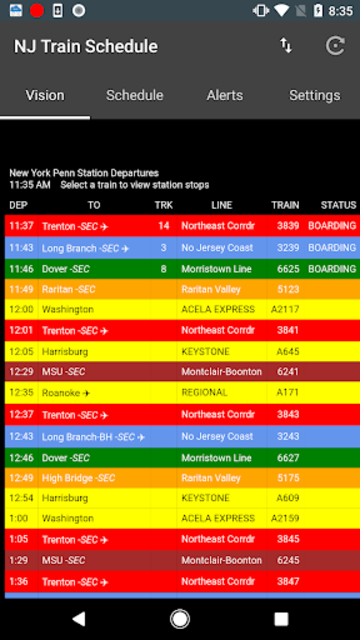 NJTSchedule(NJ Transit,  Schedules) screenshot 4