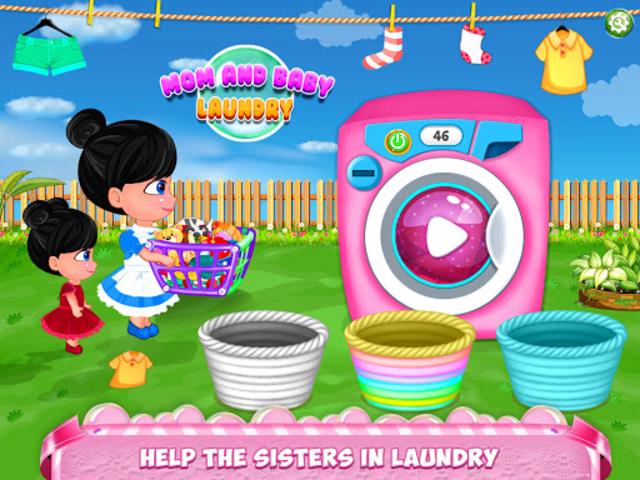 Mom Baby Clothes Washing Laundry screenshot 1