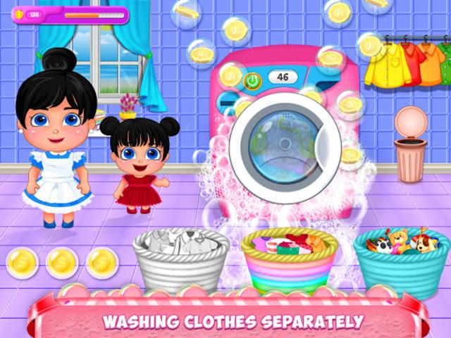 Mom Baby Clothes Washing Laundry screenshot 2