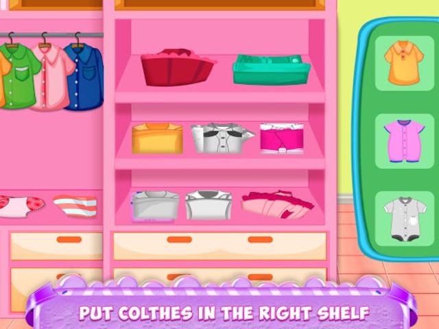 Mom Baby Clothes Washing Laundry screenshot 4