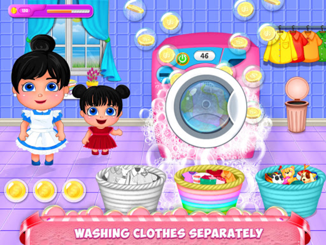 Mom Baby Clothes Washing Laundry screenshot 12