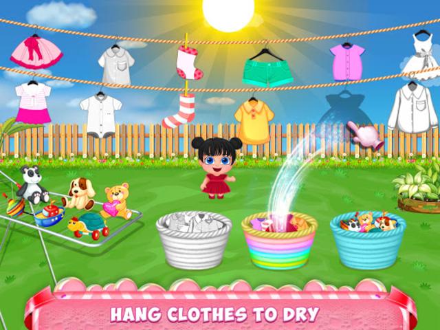 Mom Baby Clothes Washing Laundry screenshot 13