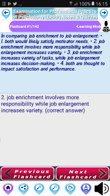 Exam for Professional Practice of Psychology EPPP screenshot 2