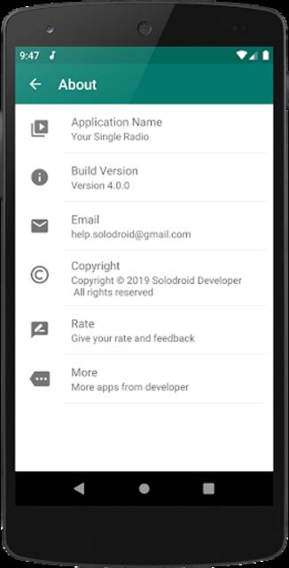 Your Radio App Single Station screenshot 4