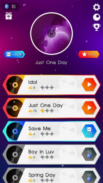 BTS Dancing Hop: BOY WITH LUV KPOP Rush Tiles Game screenshot 3