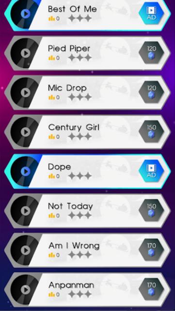 BTS Dancing Hop: BOY WITH LUV KPOP Rush Tiles Game screenshot 6