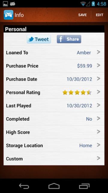 Video Games Database - UPC Game Scanner Collection screenshot 2