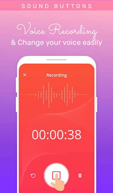 Voice changer: Voice editor - Funny sound effects screenshot 1
