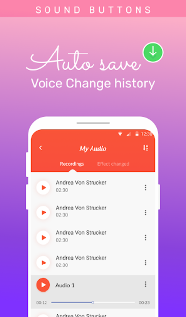 Voice changer: Voice editor - Funny sound effects screenshot 4