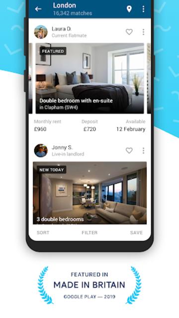 SpareRoom UK — Flatmate, Room & Property Finder screenshot 1