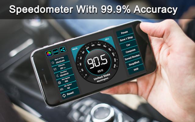 Speedometer & GPS Odometer - Route Planner screenshot 1