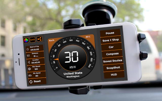 Speedometer & GPS Odometer - Route Planner screenshot 2