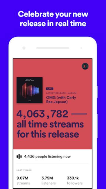 Spotify for Artists screenshot 1