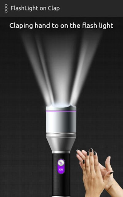 Clap to flash light on/off screenshot 2