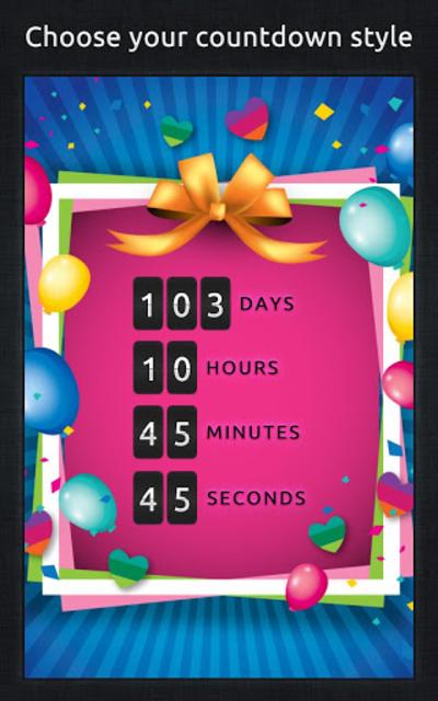 Birthday Countdown screenshot 3