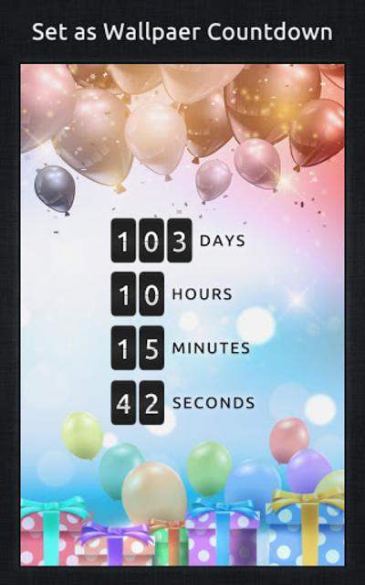 Birthday Countdown screenshot 5