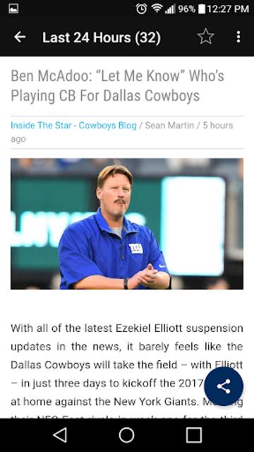 Cowboys News Feed SS screenshot 2