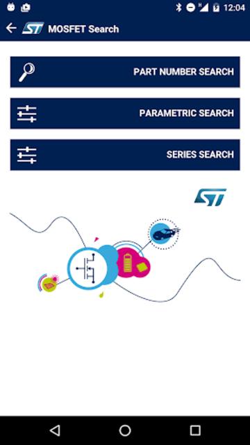 ST MOSFET Finder screenshot 1