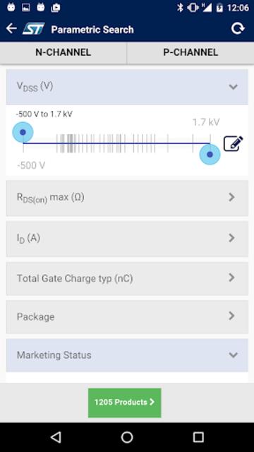 ST MOSFET Finder screenshot 2