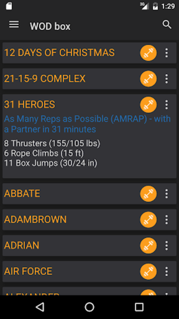 WODster - crossfit workouts! screenshot 2