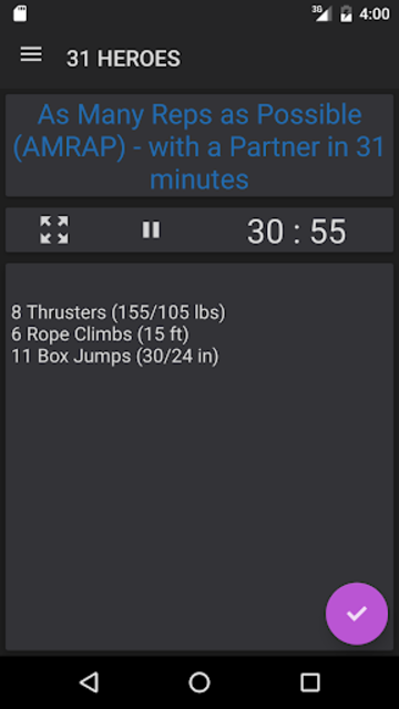 WODster - crossfit workouts! screenshot 4