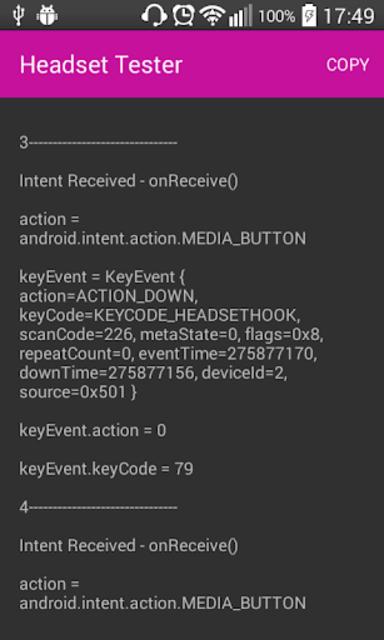 Headset Controls Tester screenshot 2