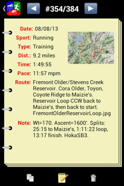 Athlete's Diary screenshot 2