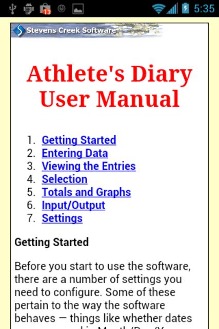 Athlete's Diary screenshot 8