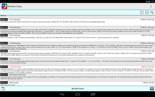 Athlete's Diary screenshot 9