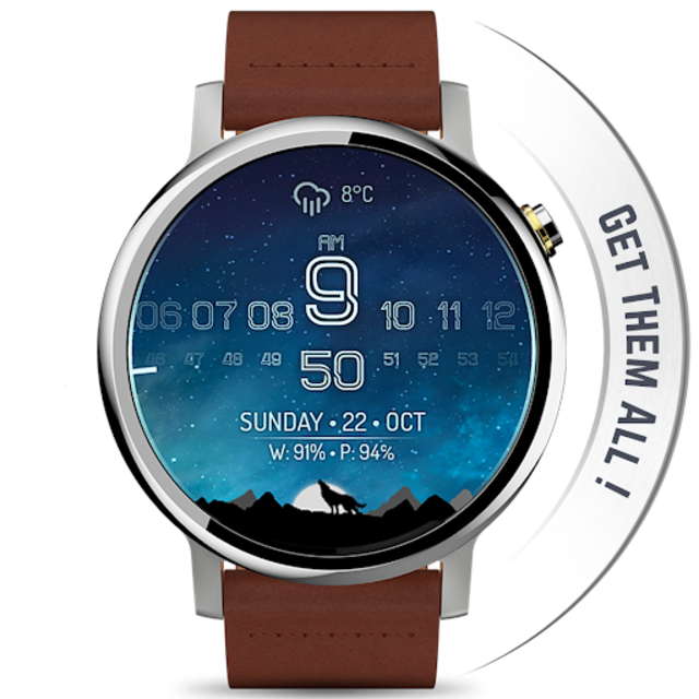 Watch Face - Minimal & Elegant for Android Wear OS screenshot 20