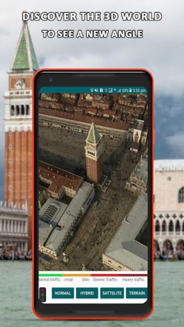 Global Live Earth Map: GPS Tracking Satellite View screenshot 3