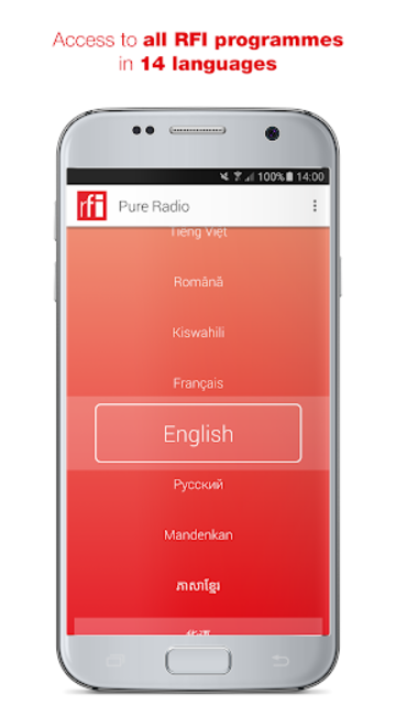 RFI Pure radio screenshot 1