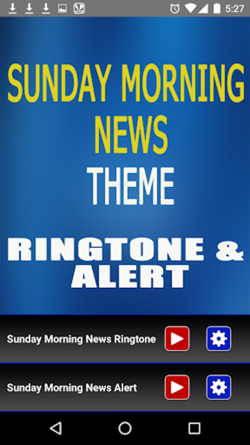 Sunday Morning News Ringtone screenshot 2