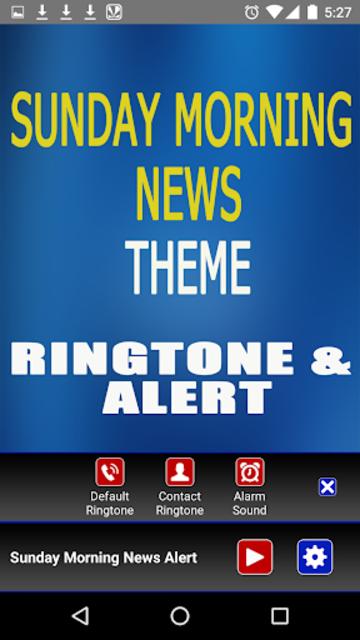 Sunday Morning News Ringtone screenshot 3