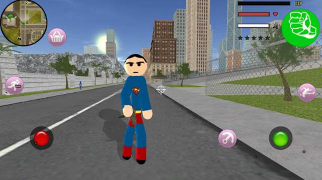 Stickman Superboy  Rope Hero Crime City screenshot 1