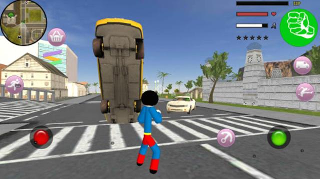 Stickman Superboy  Rope Hero Crime City screenshot 2
