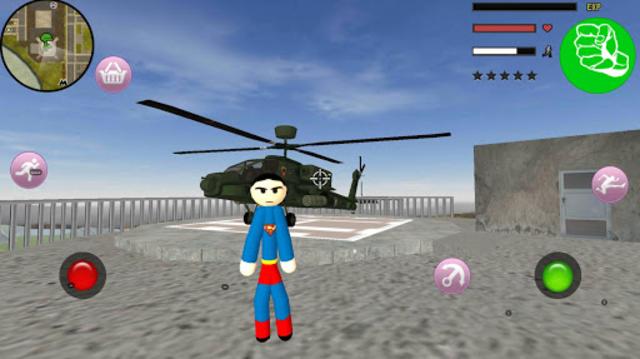 Stickman Superboy  Rope Hero Crime City screenshot 3