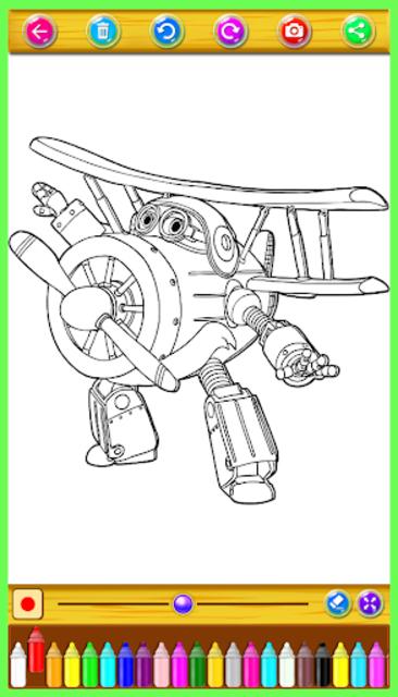 super wings coloring book screenshot 4