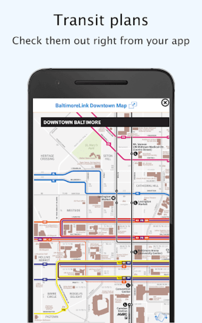 Baltimore Transit: Offline MTA & maps in Maryland screenshot 2