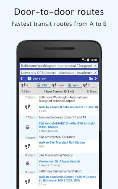 Baltimore Transit: Offline MTA & maps in Maryland screenshot 3