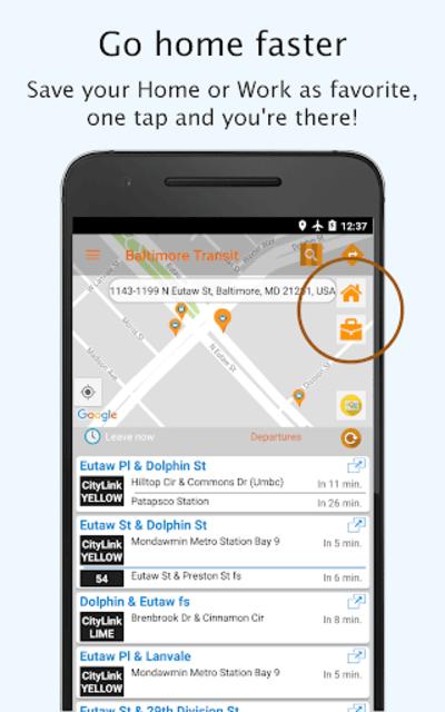 Baltimore Transit: Offline MTA & maps in Maryland screenshot 4