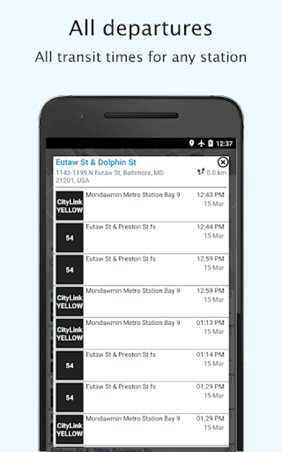 Baltimore Transit: Offline MTA & maps in Maryland screenshot 7