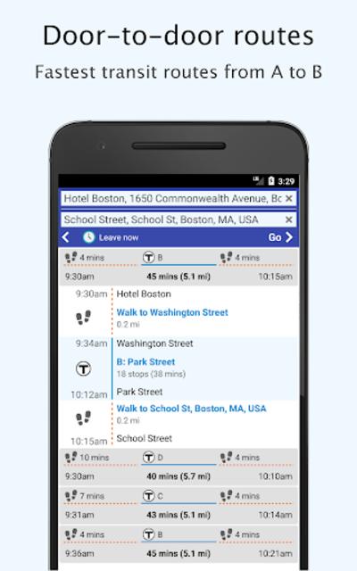 Boston Transit - MTBA Offline departures screenshot 3
